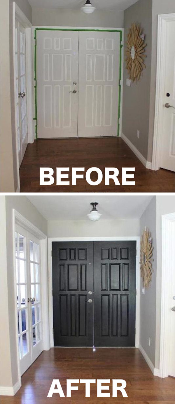 Re-spray the Door into a Dark Color