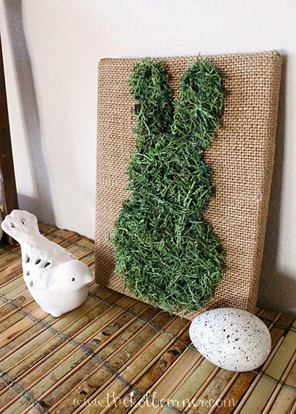 moss covered bunny canvas