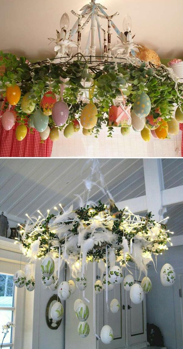 Give Your Chandelier an Easter Egg Makeover