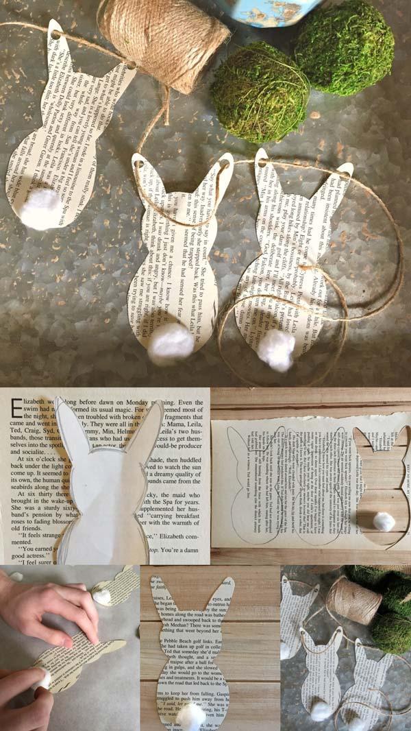 cute paper bunny garland
