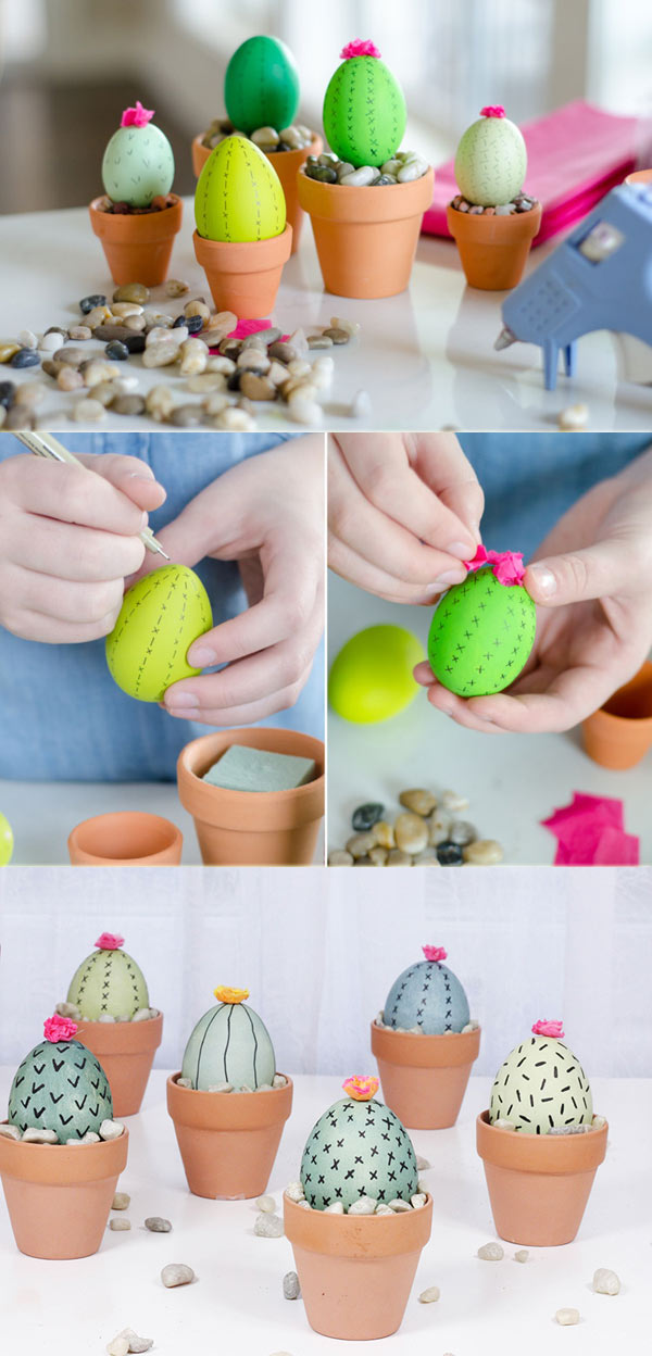 cactus Easter eggs
