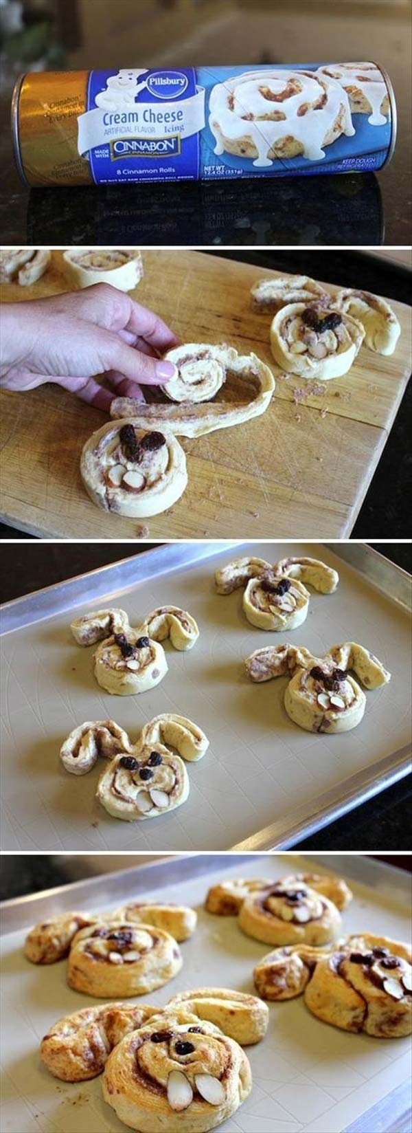 Easter Bunny Cinnamon Rolls