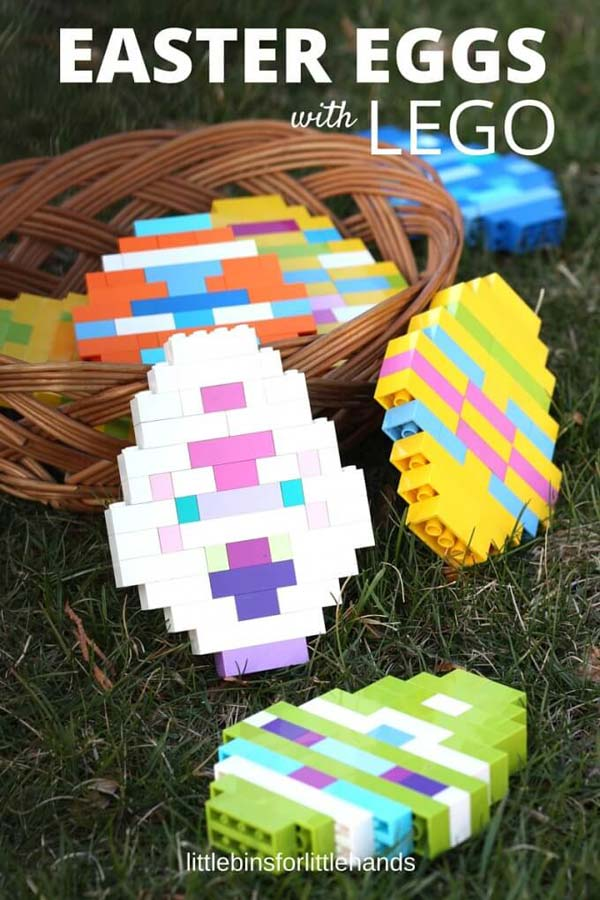LEGO Easter eggs to make with basic bricks