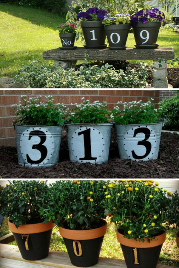 potted planters house number