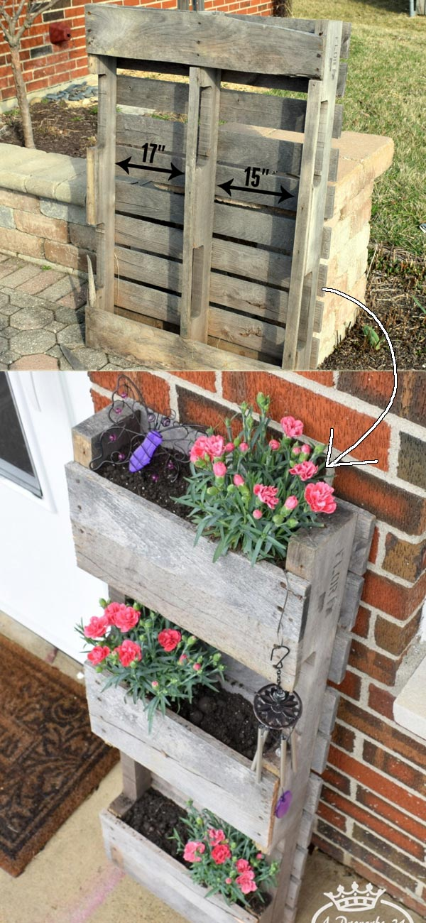 Ladder Style Distressed Wood Planter