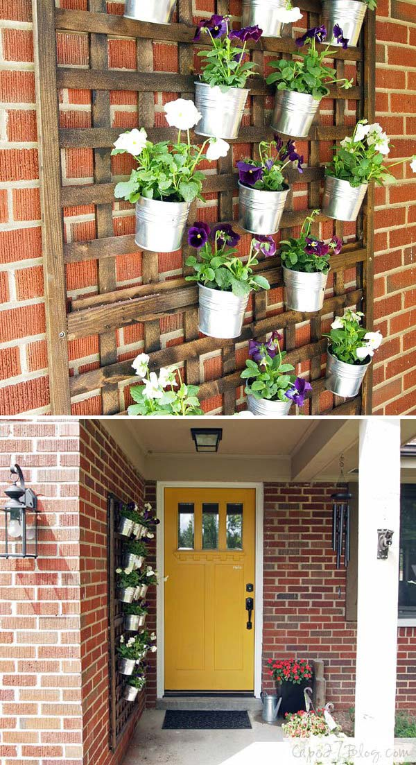 DIY vertical wall planters