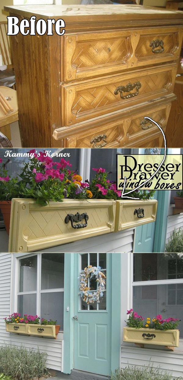 dresser drawer window box