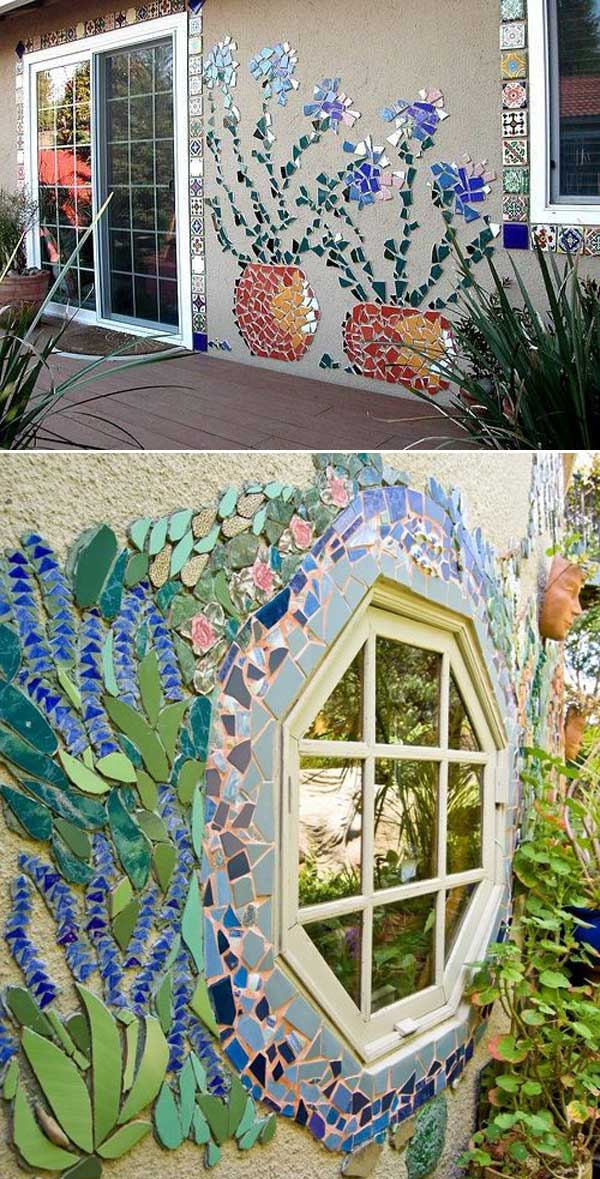 Decorate The Wall Around The Window With A Piece Of Mosaic Work: