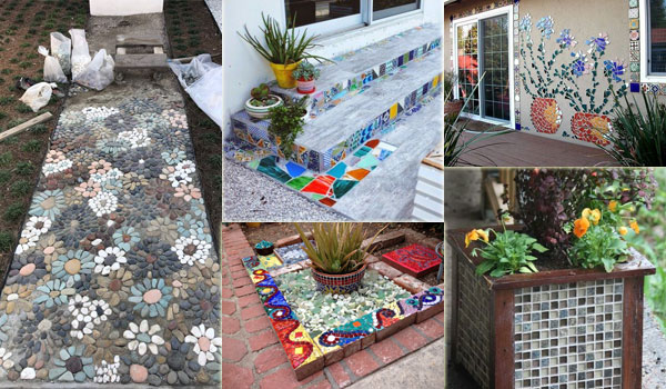 Easy and Cute DIY Mosaic Ideas for Garden and Yard
