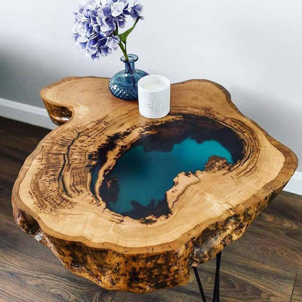 Home Aquarium Design Ideas: The Most Fabulous 15 Epoxy Resin Wood Tables
