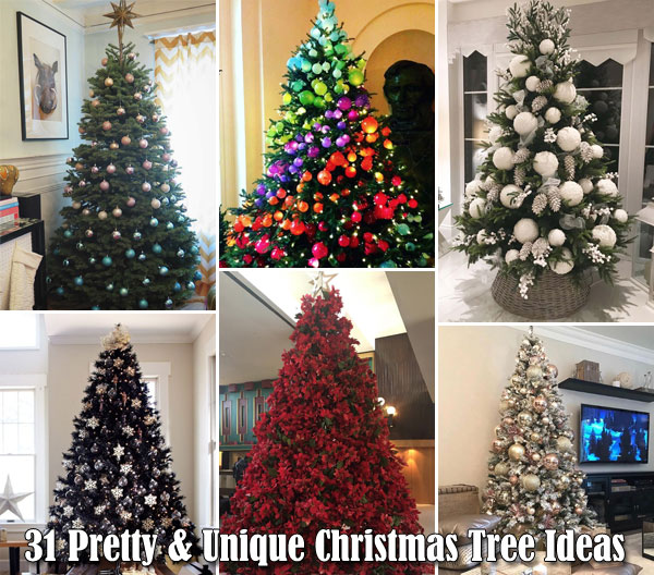 31 Pretty and Unique Christmas Tree Ideas Everyone Will Love