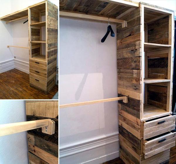 Build a Closet with pallets