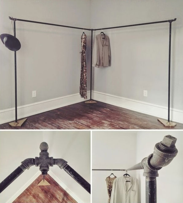 Larger Scale of Pipe Clothing Rack