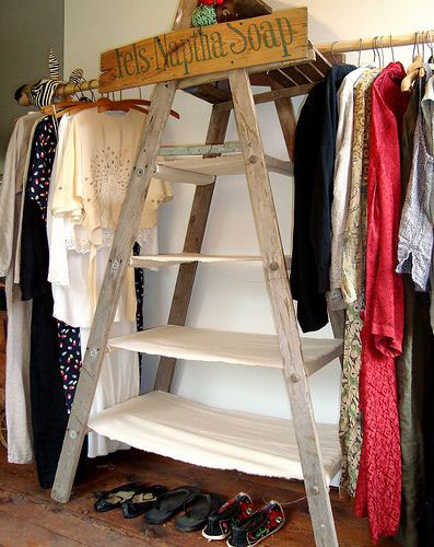 Turn One or More Ladders into a Closet