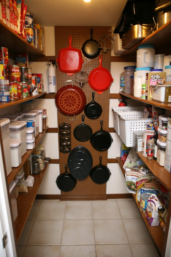 Utilize the pegboard to organize your pans
