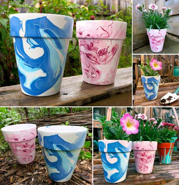 17 Cool Ways To Decorate Your Flower Pots, How To Make Outdoor Plastic Plant Pots Look Nice