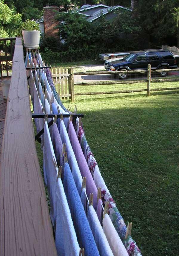 10 Unique DIY Outdoor Clothesline Ideas