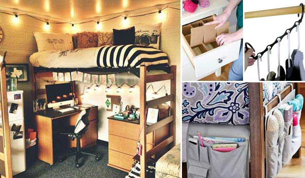 17 Storage Ideas for a Room in The Student Dormitory