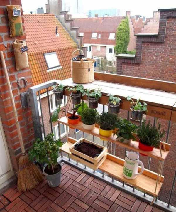 19 Railing Planter Ideas For Making Small Balcony Gardens