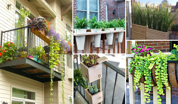 19 Railing Planter Ideas For Making Small Balcony Gardens