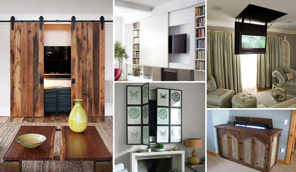 Best 14 Clever and Stylish Ideas How to Hide TV