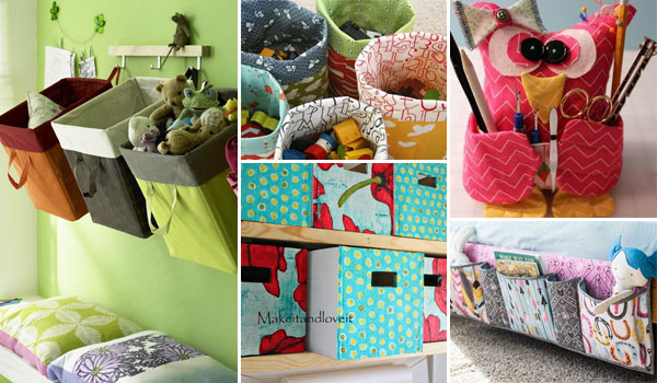 15 Cool DIY Fabric Storage Bins and Organizers
