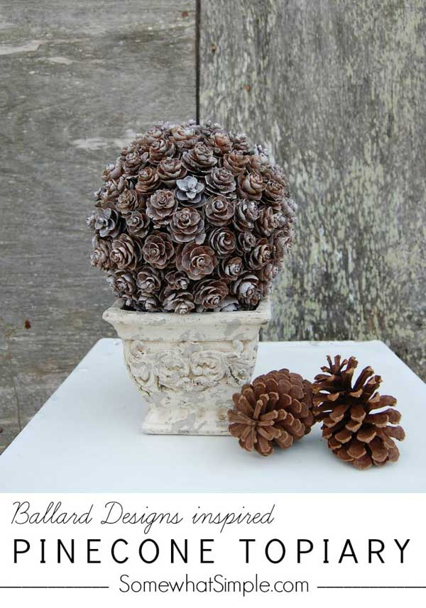 DIY Pinecone Topiary