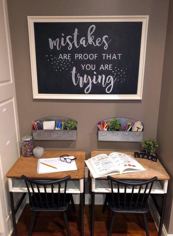 Two Desk Homework Nook