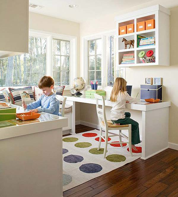 Create back-to-back study spaces