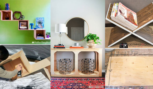 21 Cool DIY Home Projects Out of One Sheet of Plywood