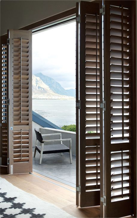 Timber Shutters Balcony Door