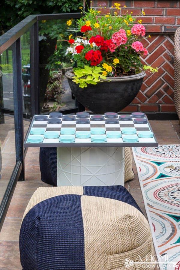 DIY Plywood Checkerboard Game