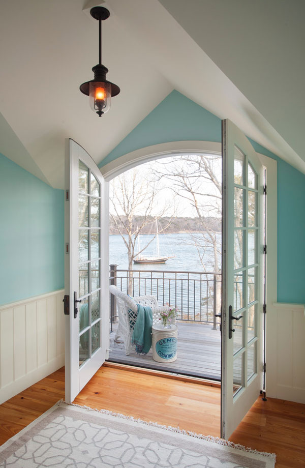 balcony White French Doors