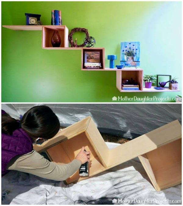 Plywood Floating Shelf