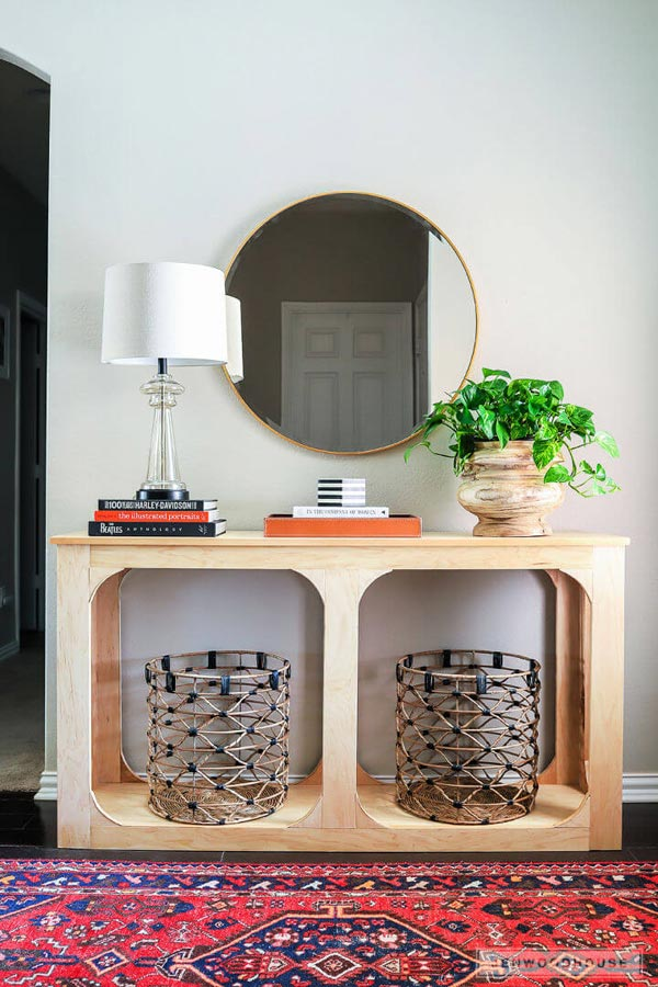 Plywood Console Table