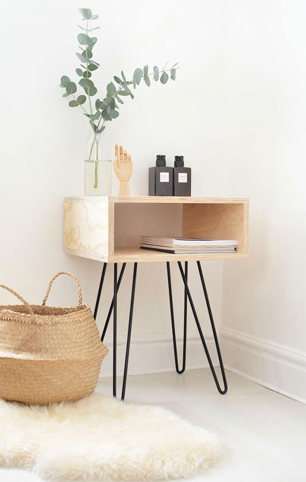 One Sheet Plywood Nightstand