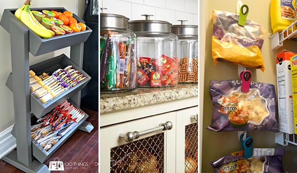 15 DIY Ideas for Snack Storage