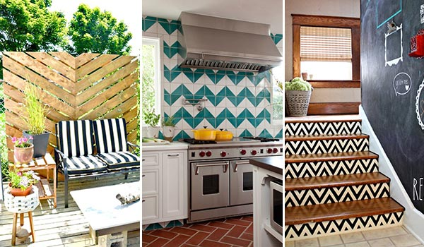 15 Home Decorating Ideas with Chevron Pattern