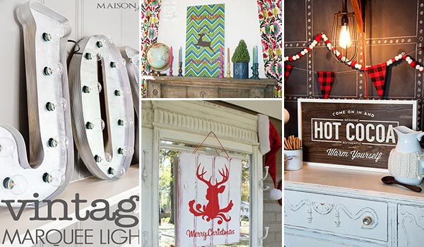 20 Marvelous DIY Christmas Signs