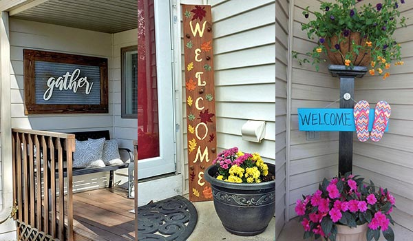 20 DIY Welcome Signs for Front Porch