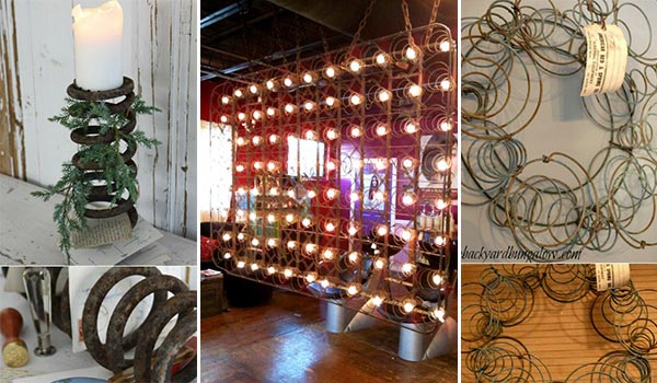 15 Rustic Crafts With Old Mattress Springs