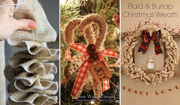 25 DIY Rustic Burlap Christmas Decorations for 2020