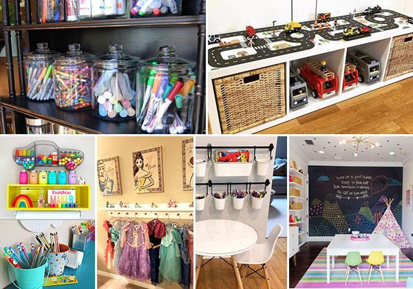 Best 34 Playroom Storage Hacks and Ideas
