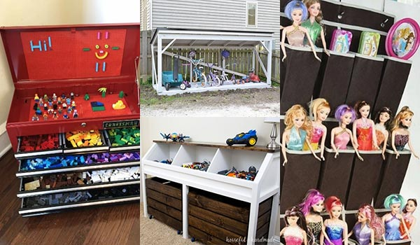 14 Incredibly Easy and Cheap DIY Toy Storage Ideas for an Organized Home