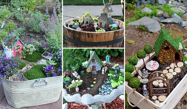 26 Creative, Fun, and Inspiring Fairy Garden Container Ideas